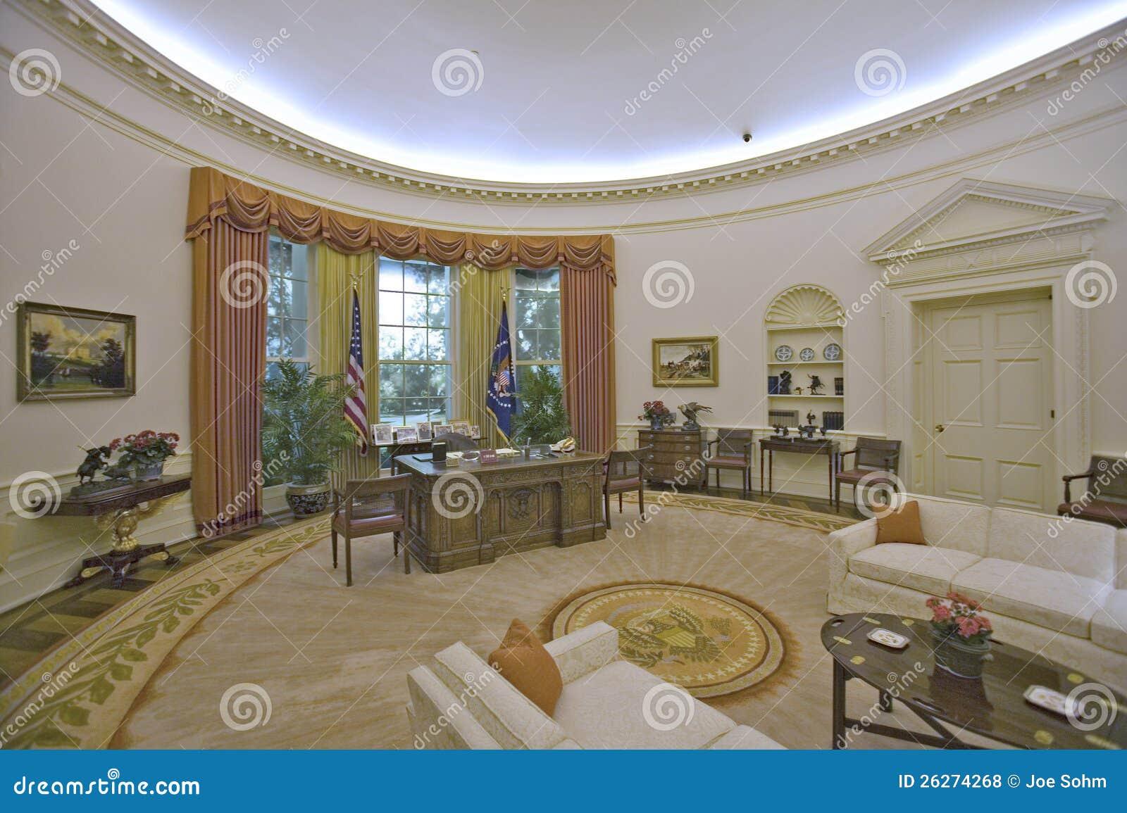Reproduction du bureau d 39 ovale de la maison blanche photo stock ditorial image du ronald d0 for Bureau ovale
