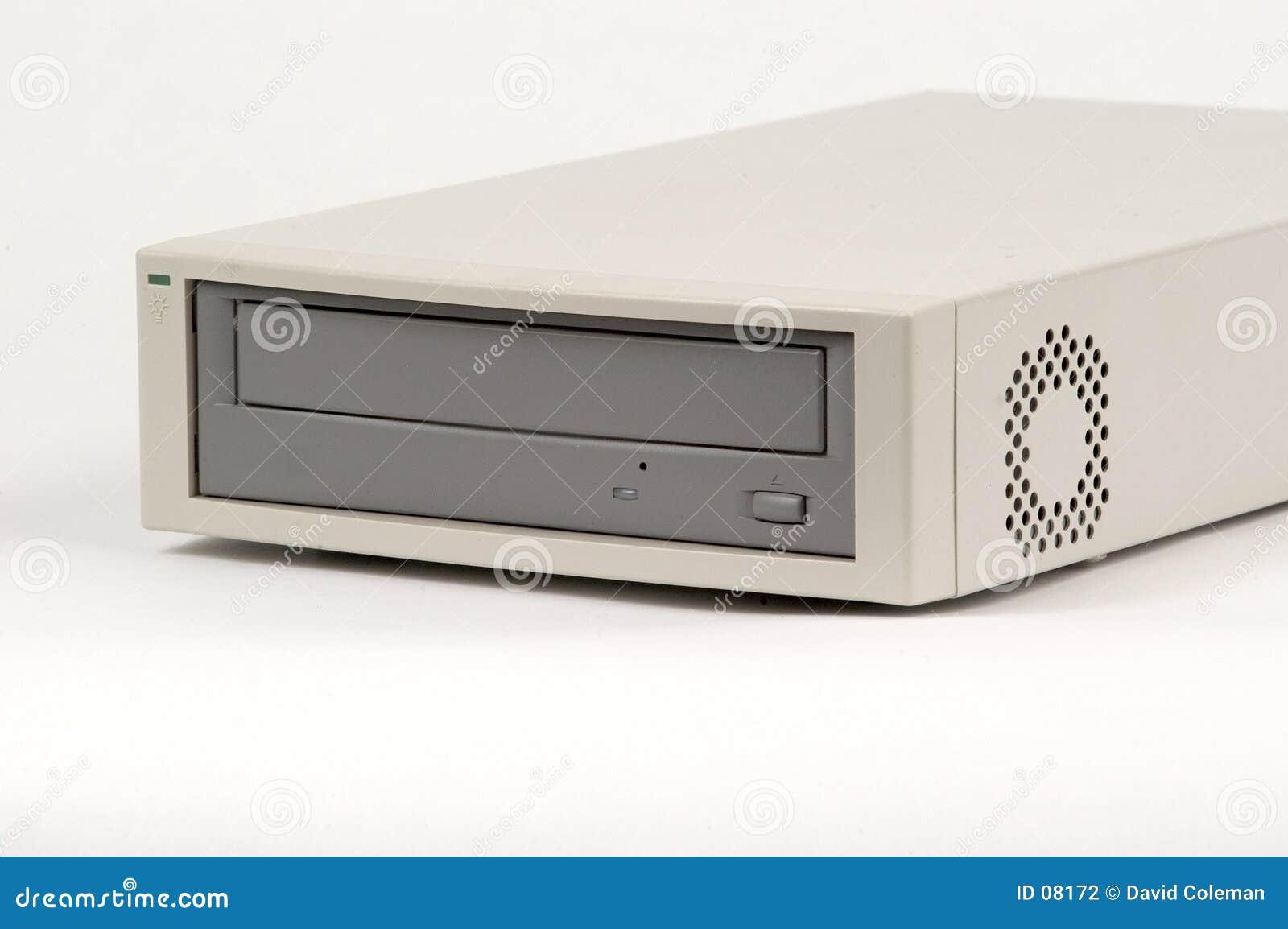 Reprodutor de CDs externo adiantado