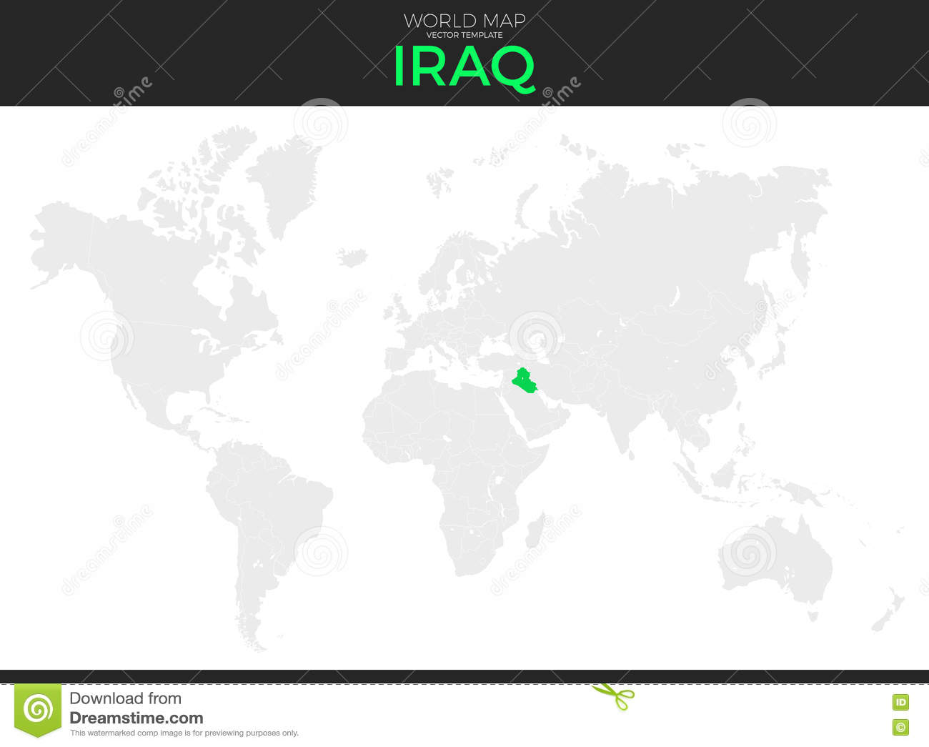 Where Is Iraq Located On The World Map.Republic Of Iraq Location Map Stock Vector Illustration Of Detail