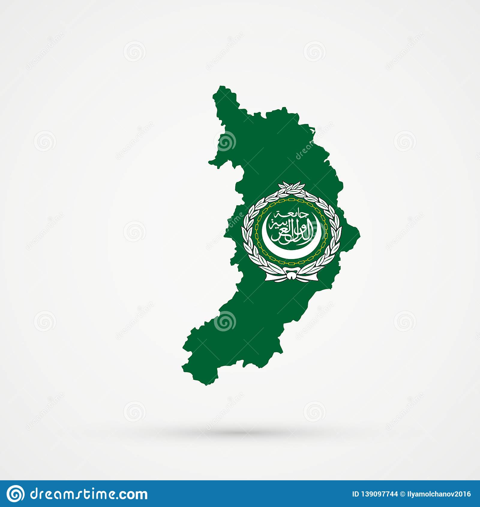 Picture of: Republic Of Khakassia Map In Arab League Flag Colors Editable Vector Stock Vector Illustration Of Abstract Country 139097744