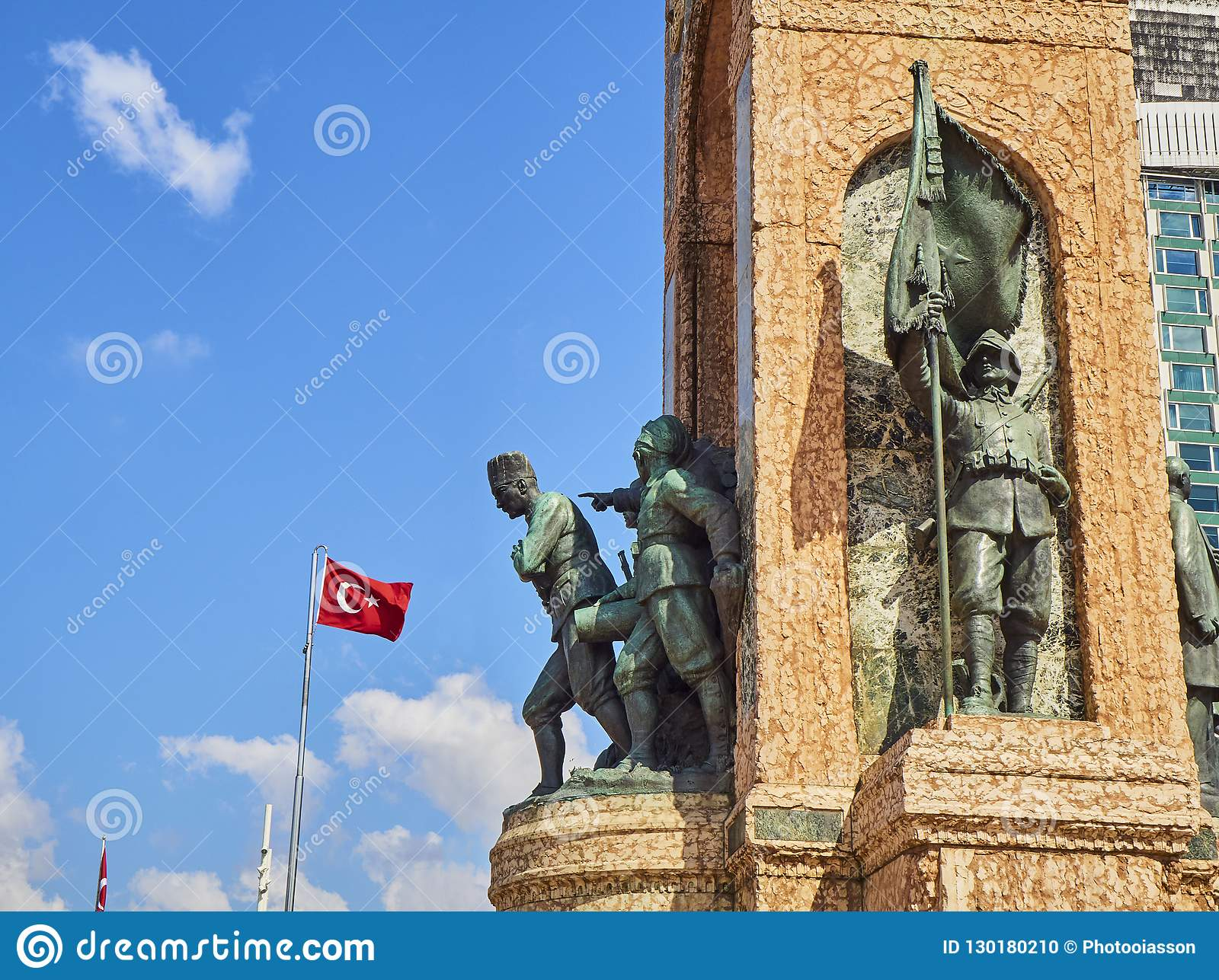 The Republic Monument. Taksim Square, Beyoglu district. Istanbul