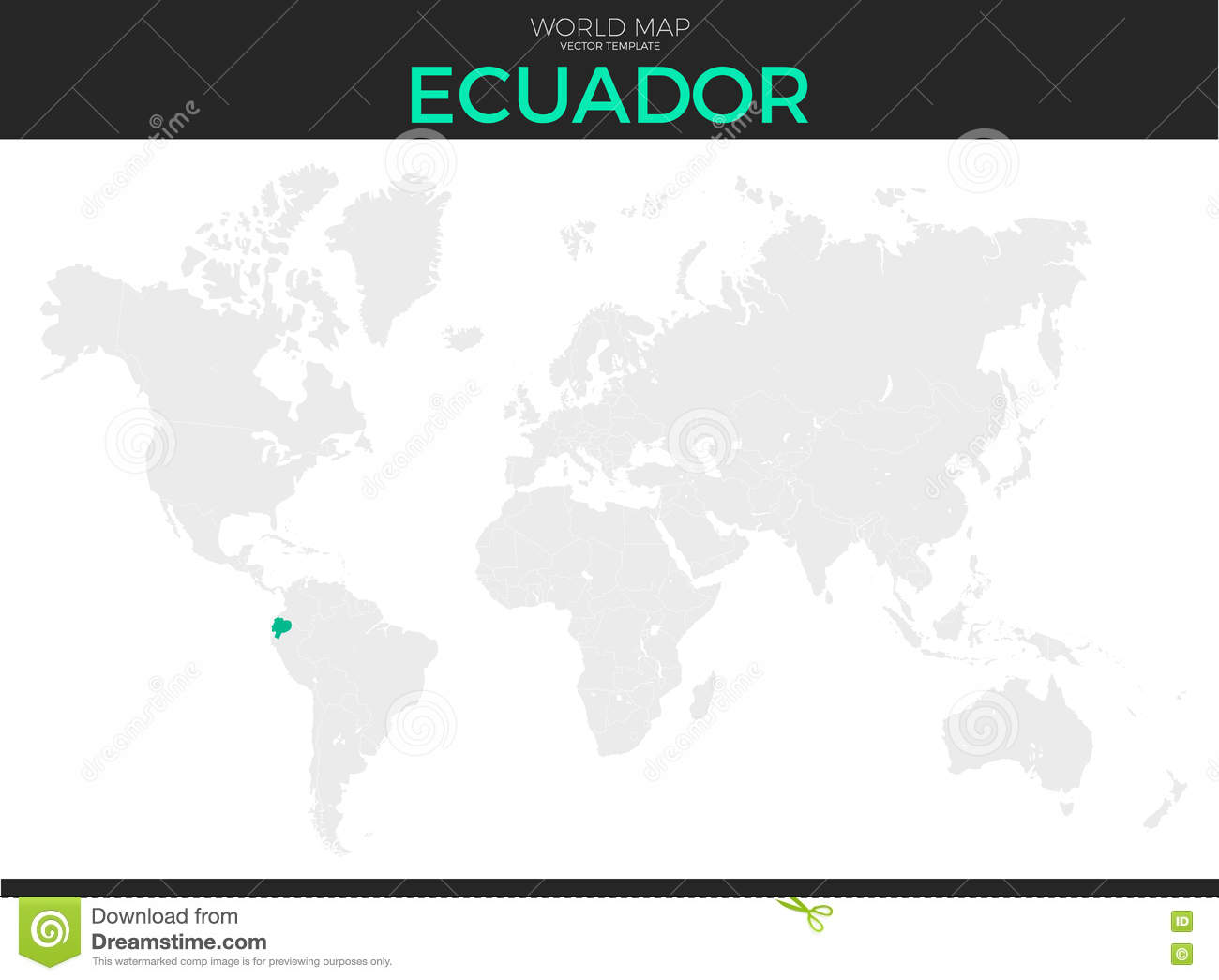Location Of Ecuador On World Map.Republic Of Ecuador Location Map Stock Vector Illustration Of Icon