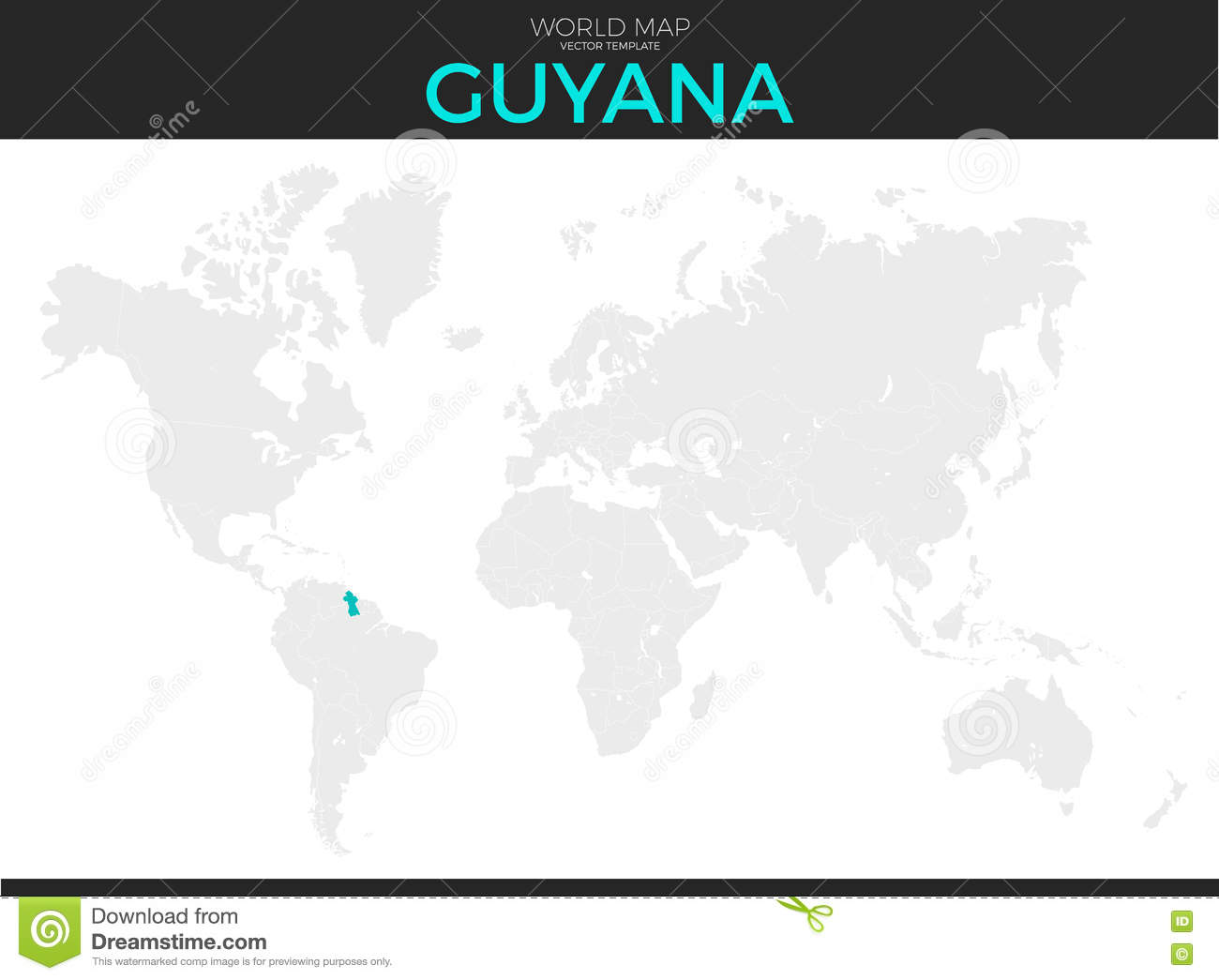 Where Is Guyana Located On The World Map.Co Operative Republic Of Guyana Location Map Stock Vector