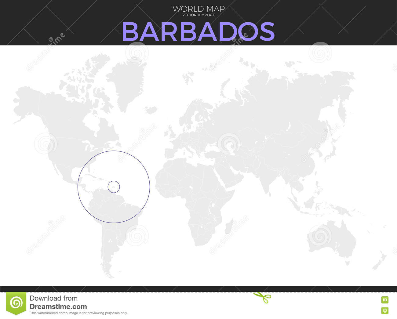 Picture of: Barbados Location Map Stock Vector Illustration Of Isolated 73679381