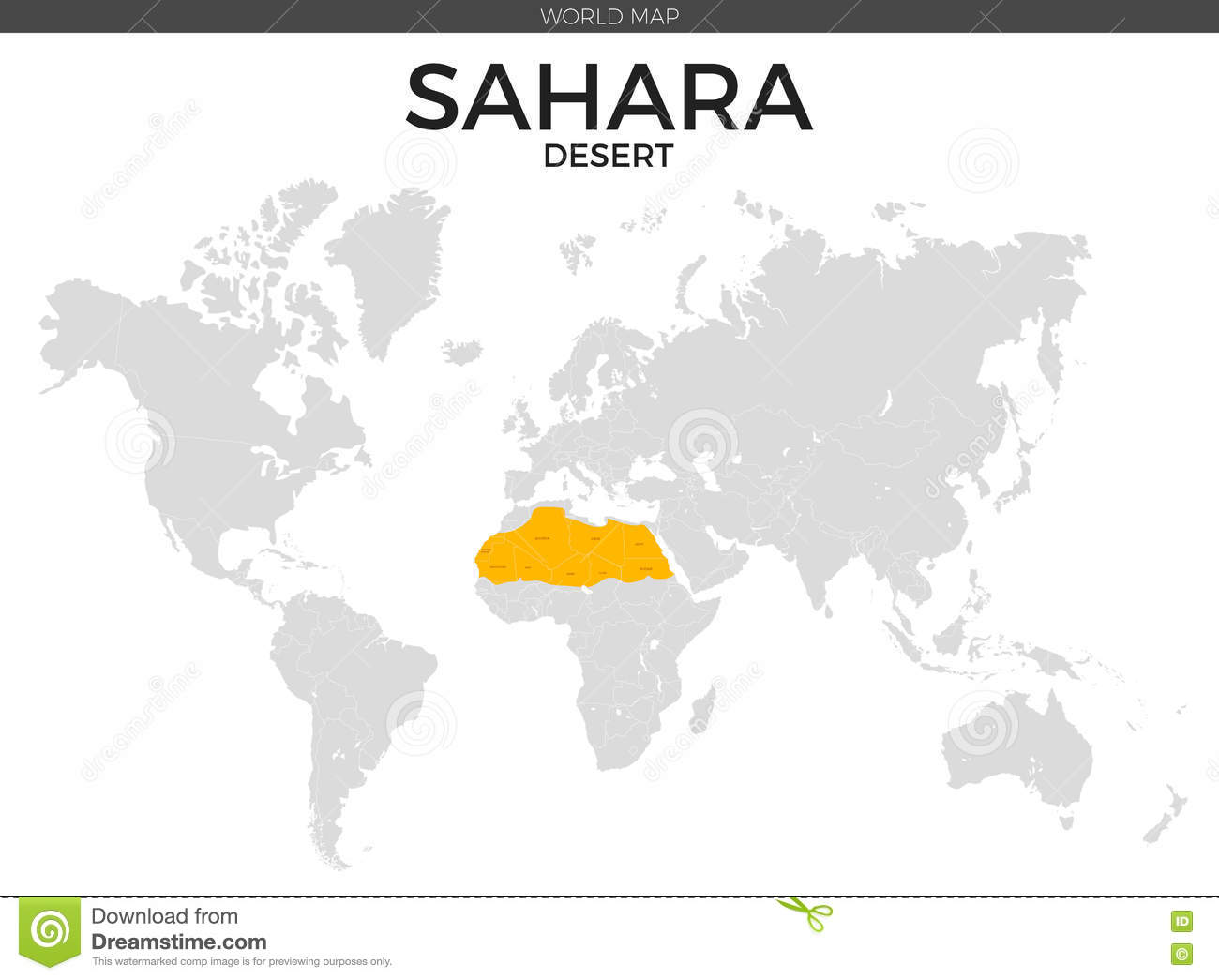 Sahara Desert Location Map Stock Vector - Image: 73680433