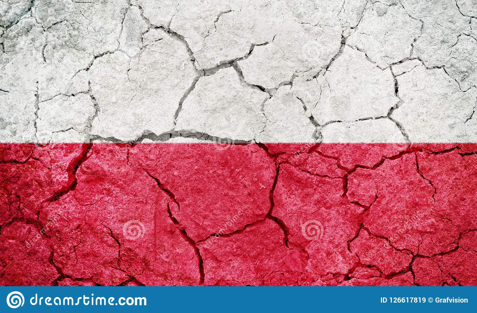 Republik av den Polen flaggan
