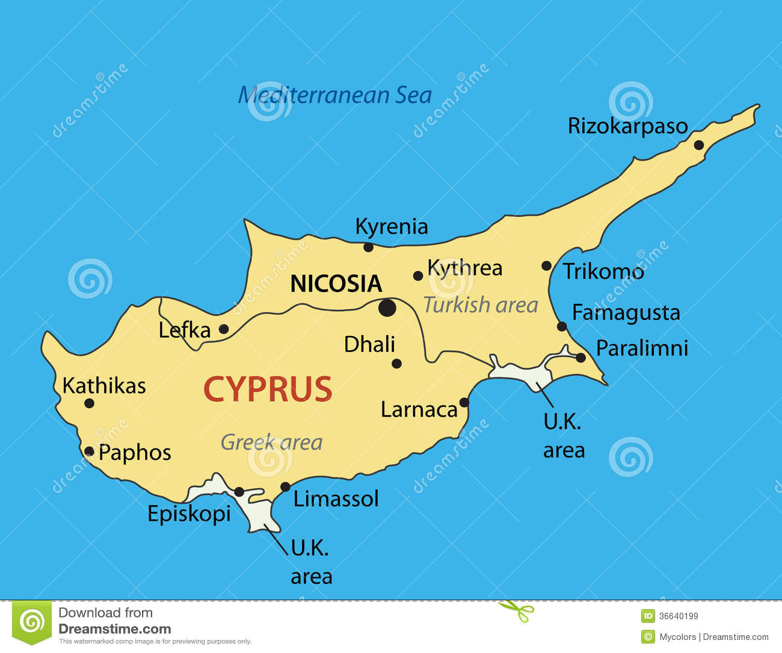 Cyprus Island On Map Of Europe