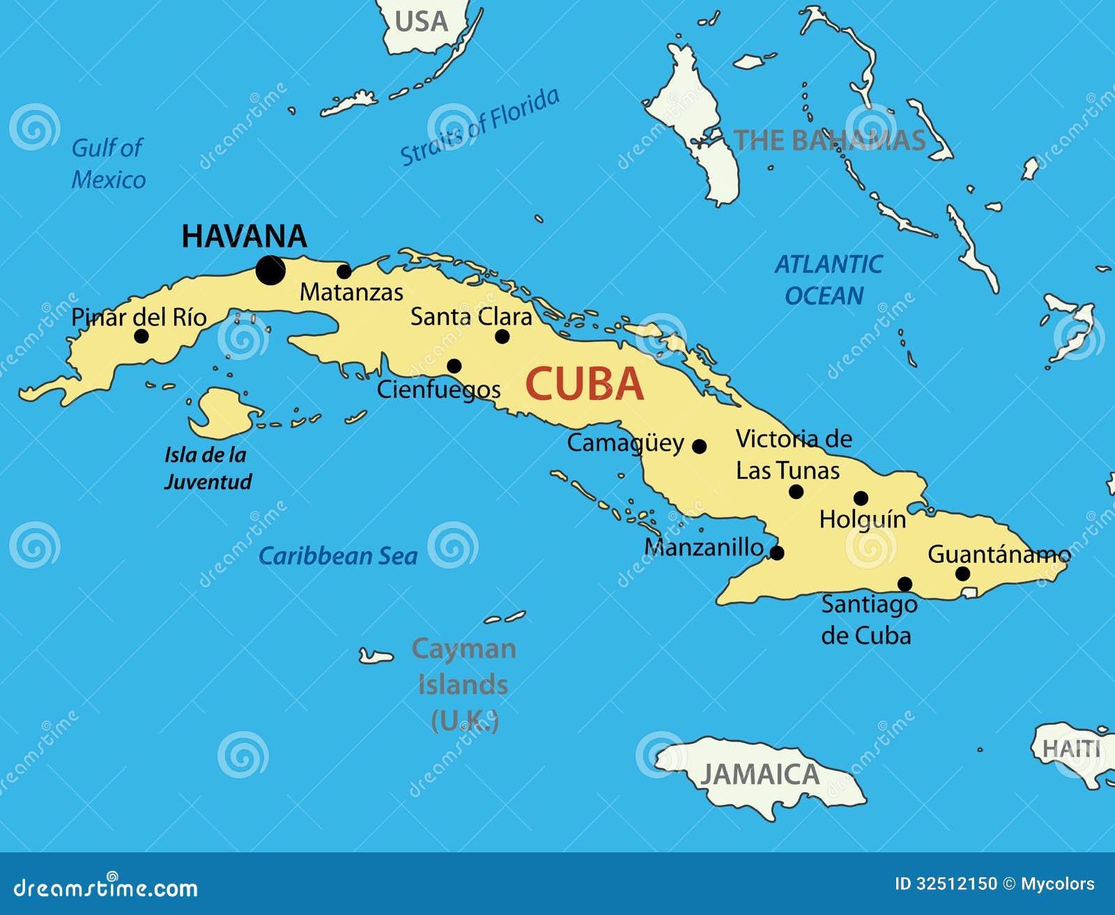 Republika Kuba Mapa Ilustracja Wektor Ilustracja Zlozonej Z