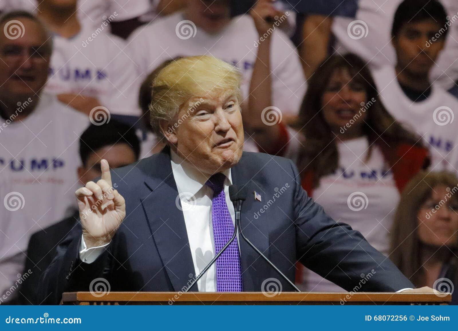 Republikeinse presidentiële campagneverzameling de kandidaat van Donald Trump bij het de Arena & Casino van het Zuidenpunt in Las