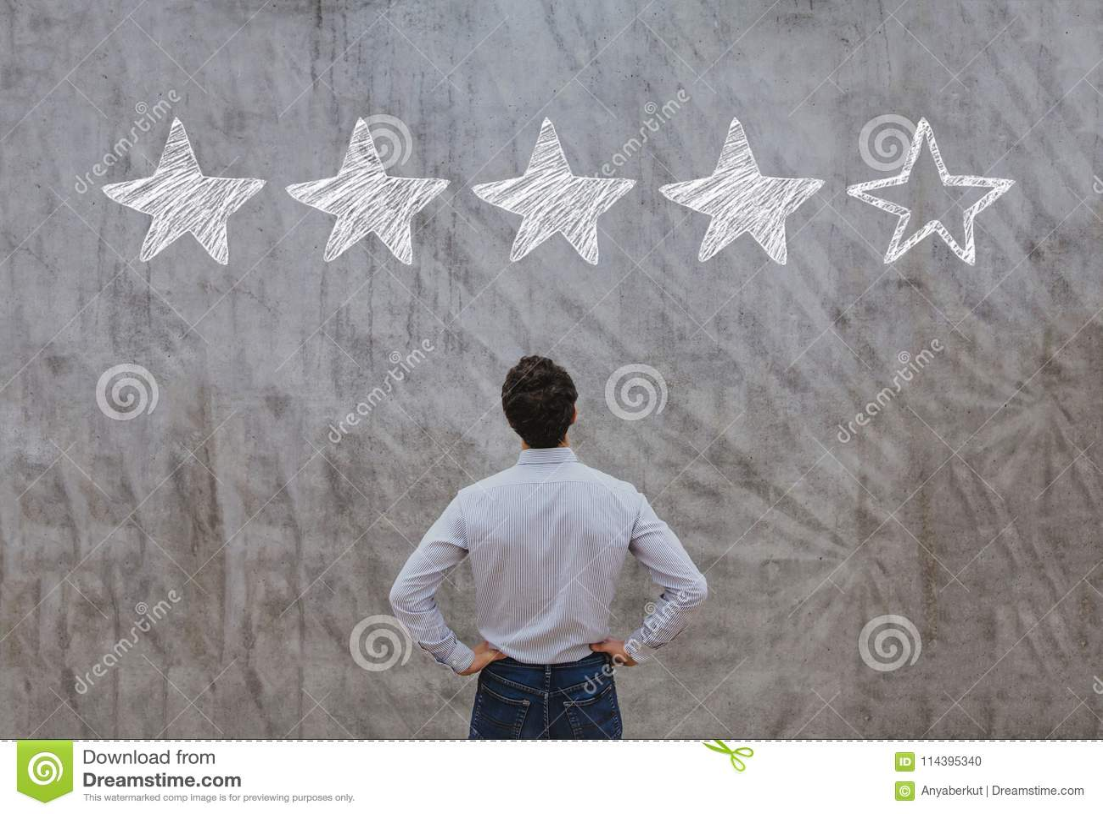 Reputation management concept, rating