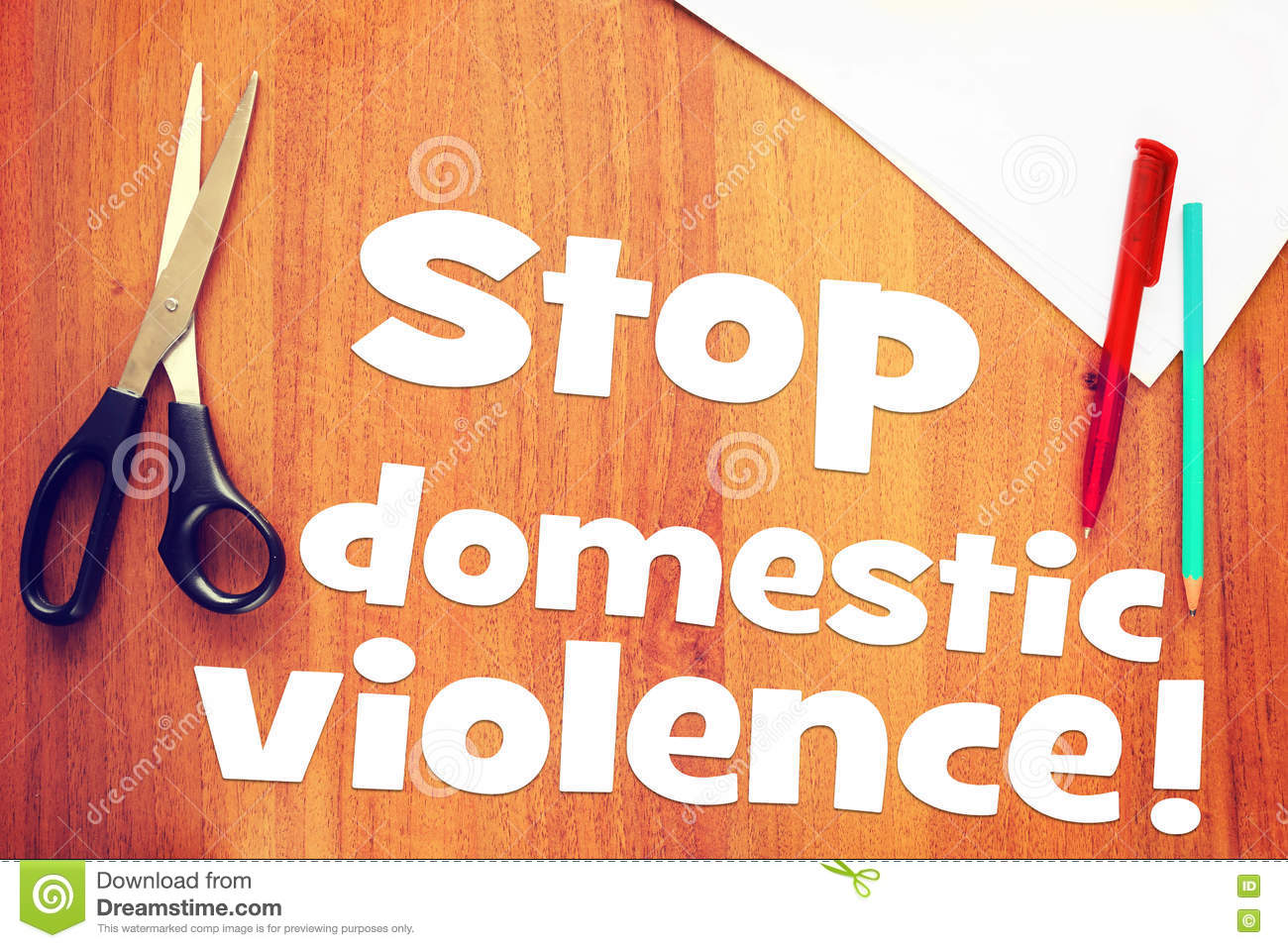 Request to stop domestic violence