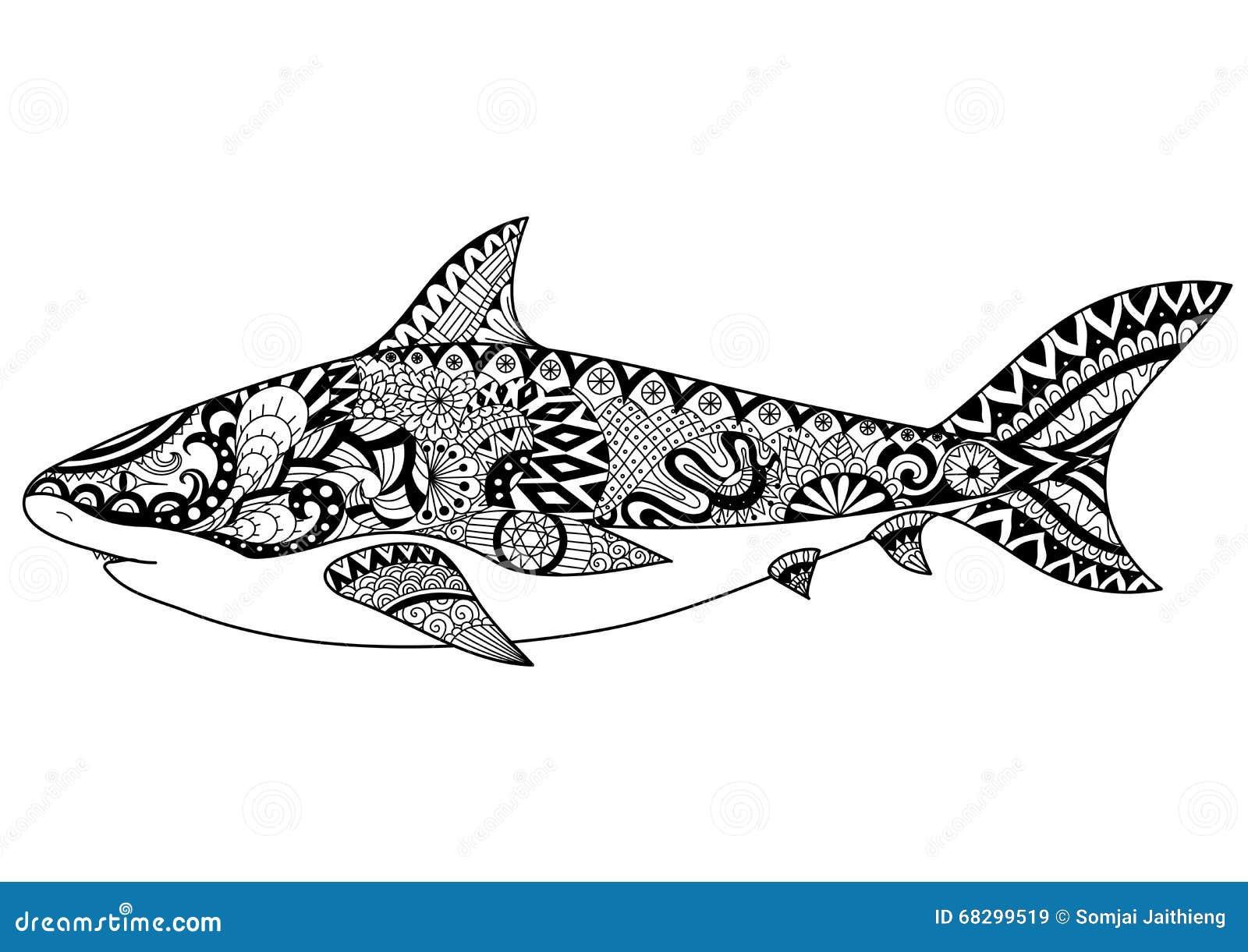 Requin Conception De Sch Ma Pour Livre De Coloriage Pour L