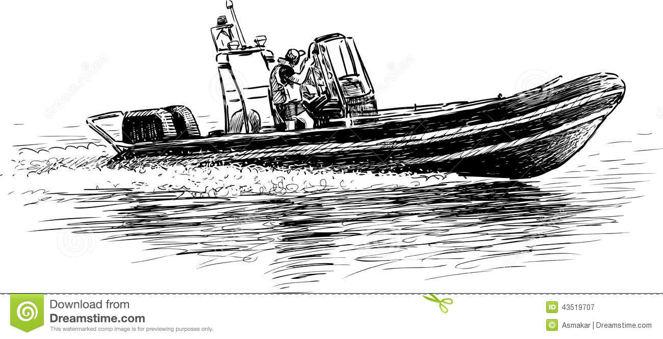 rescue boat stock vector
