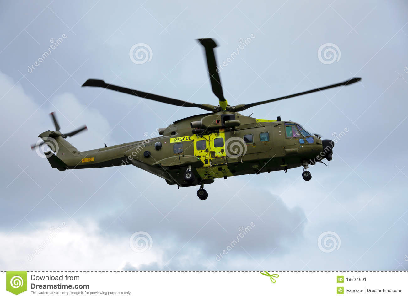 Rescue Helicopter Editorial Photo - Image: 18624691