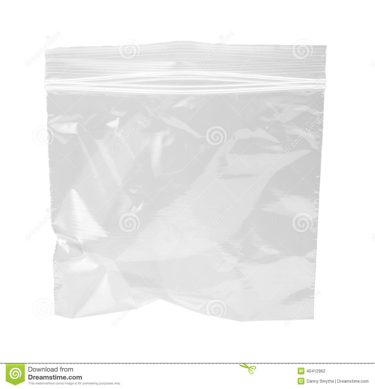 Resealable Plastic Bag Isolated Stock Photo Image Of