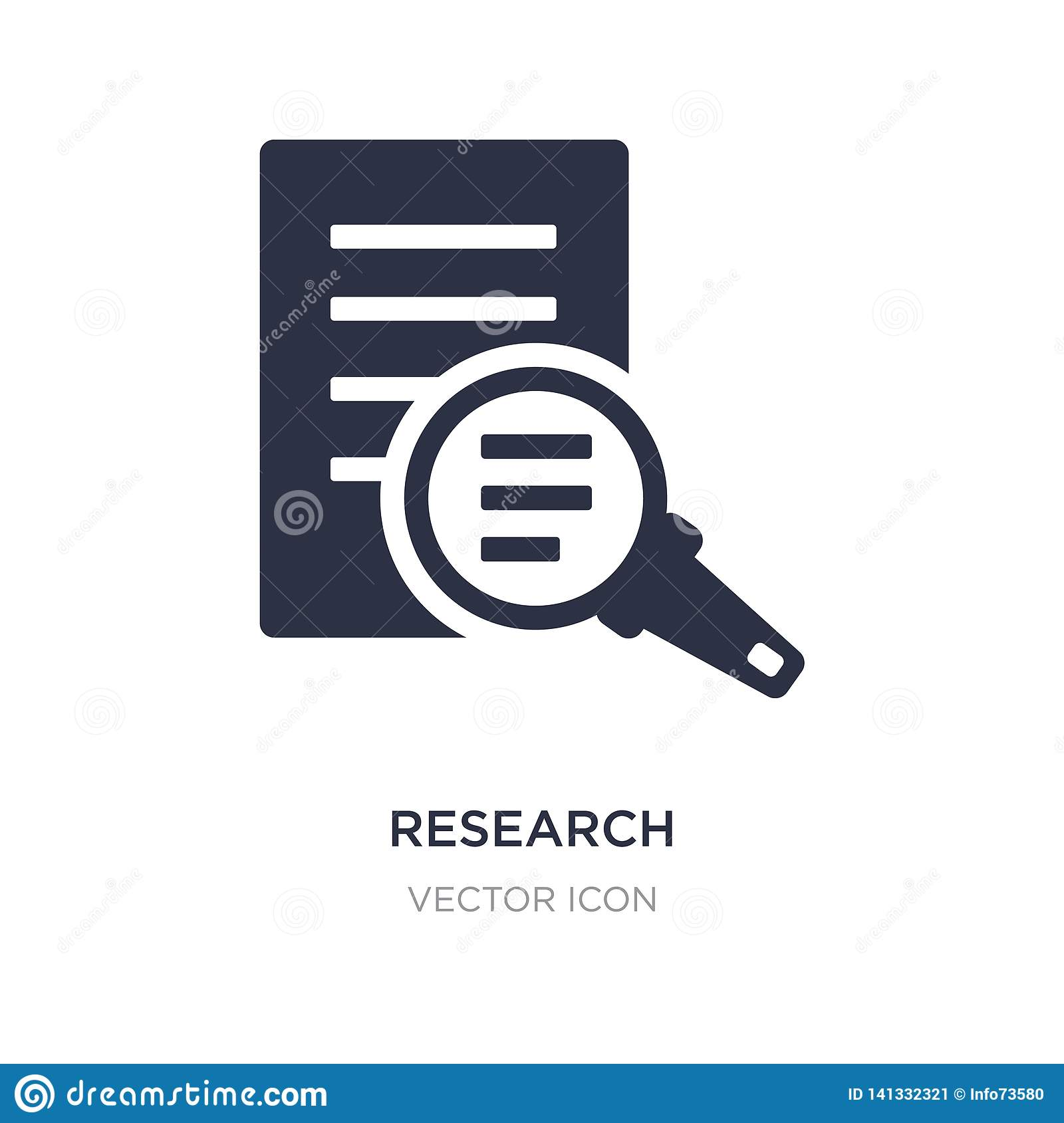 research icon on white background. Simple element illustration from Charity concept