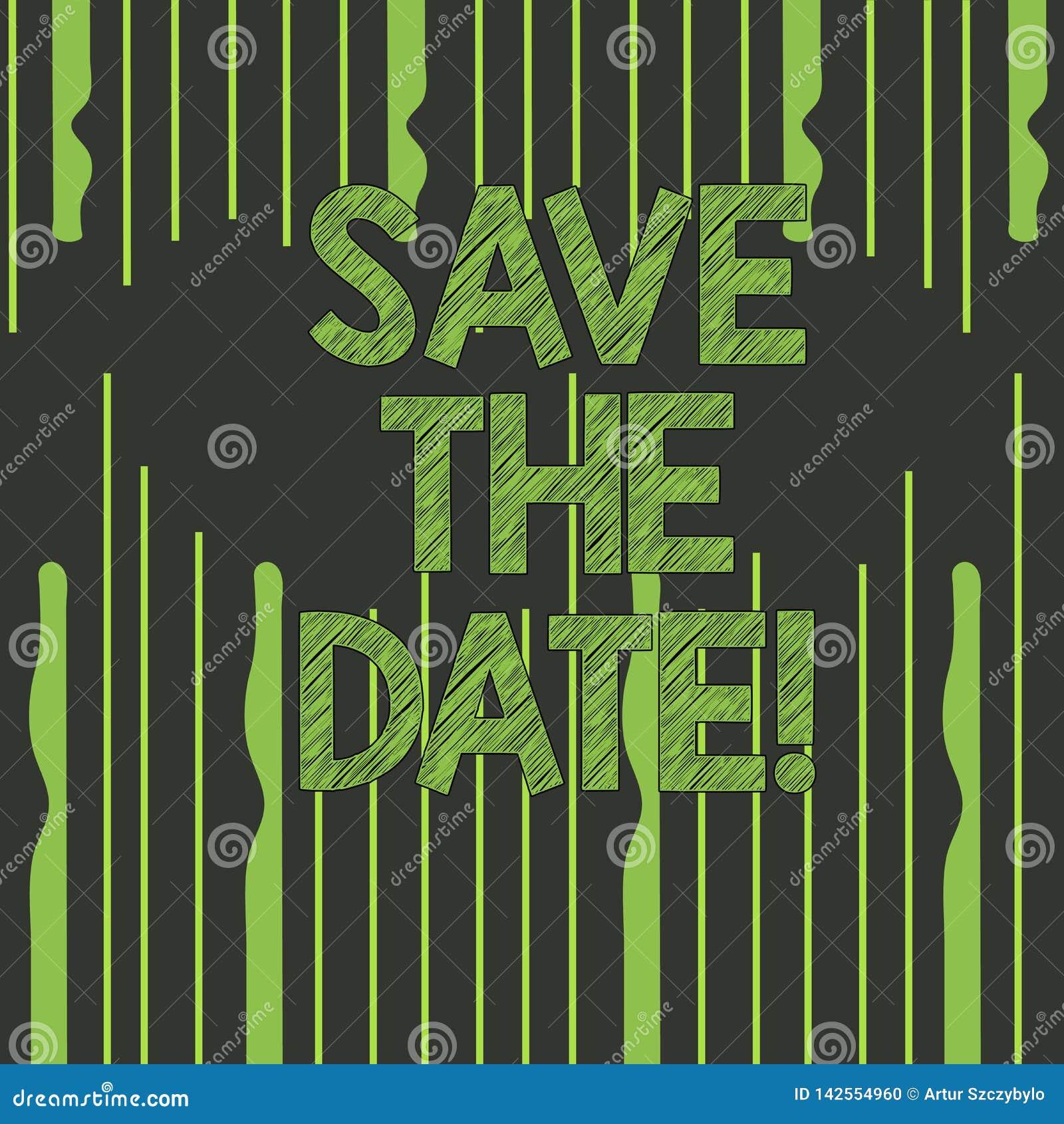 Reserva de la demostración de la muestra del texto la fecha Los acontecimientos de organización de la foto conceptual bien hacen