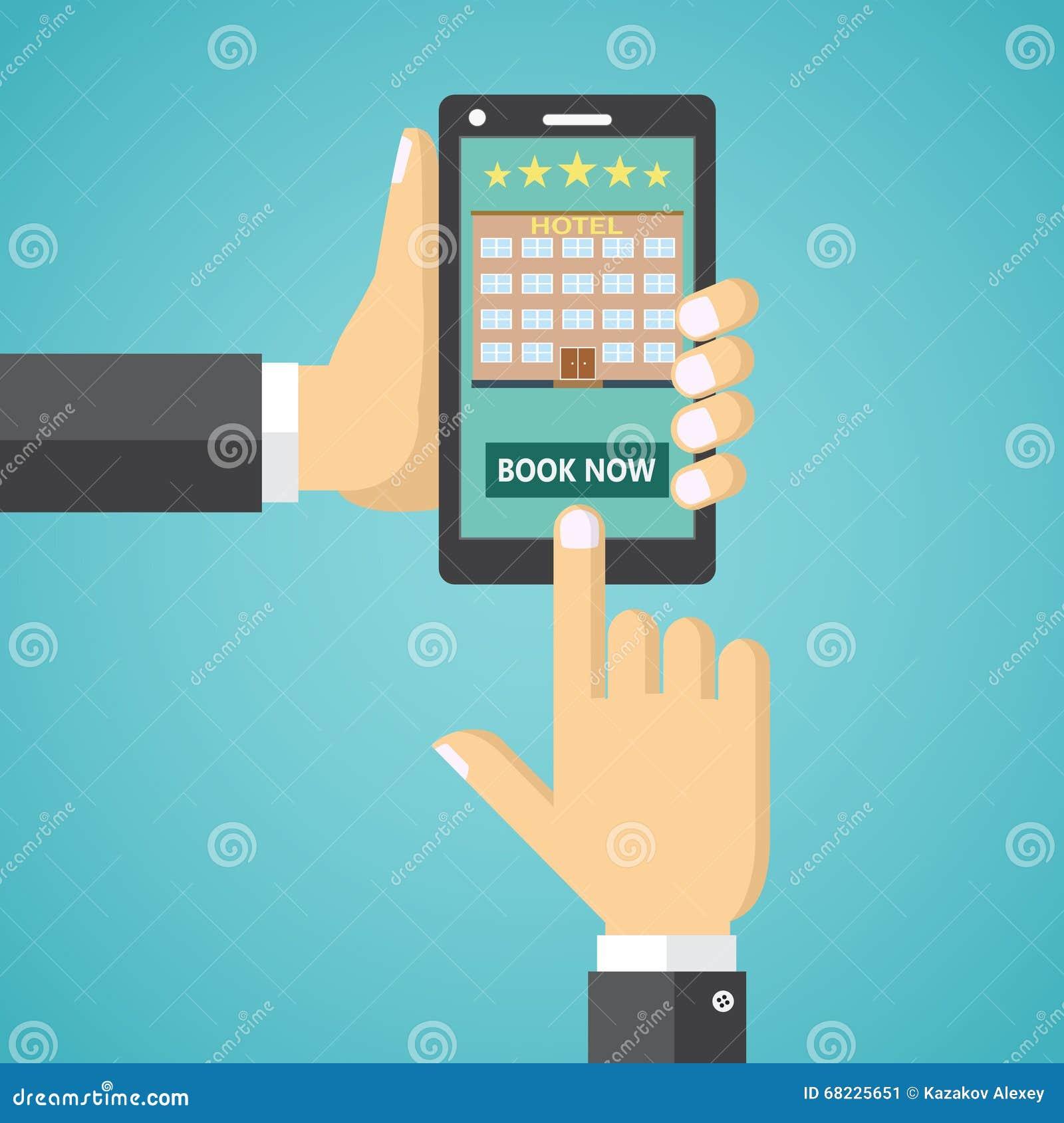 Reservación de una habitación en un dispositivo móvil