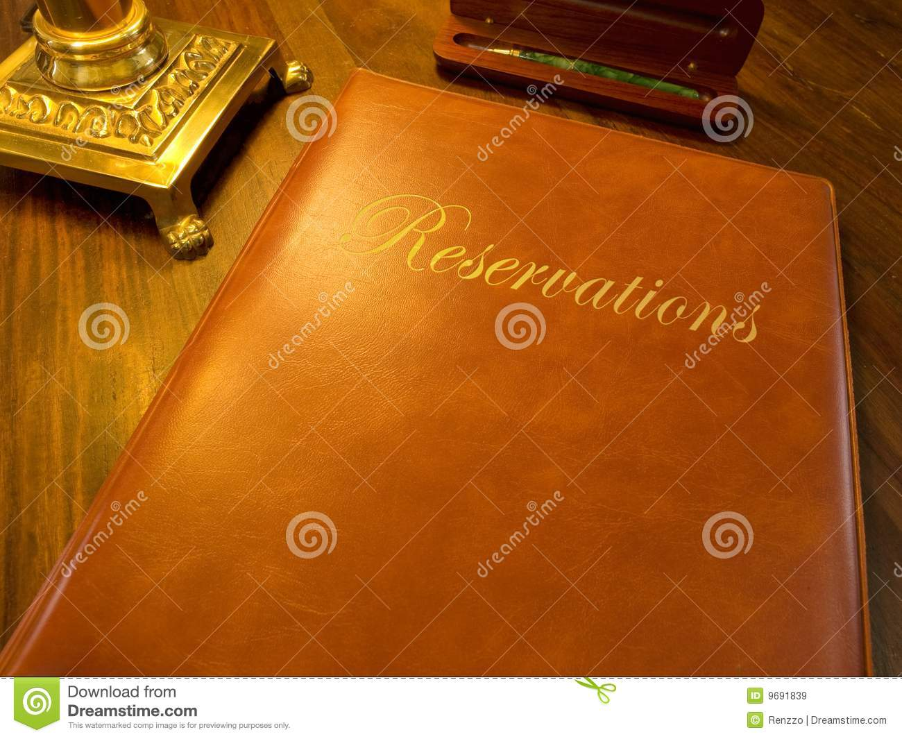 Reservation book of a restaurant hotel etc royalty free for Reservation hote