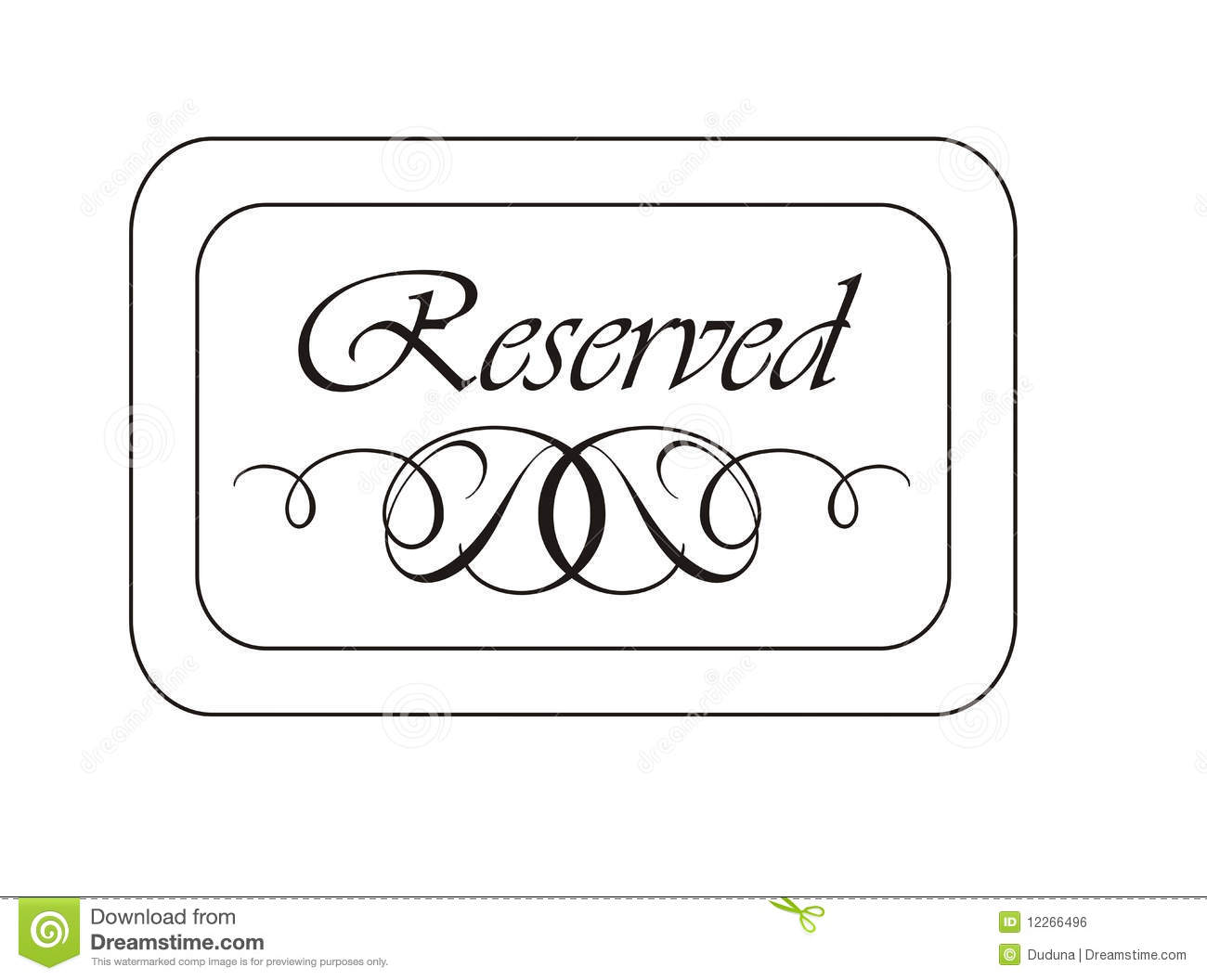 Royalty Free Stock Image Reserved Sign Image12266496 on banquet chairs for less