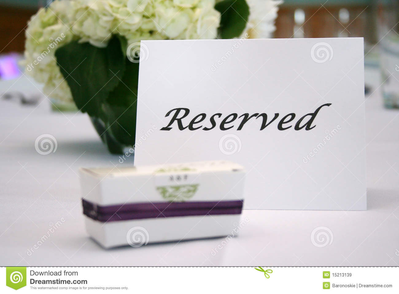 Reserved table card royalty free stock images image for Table 52 reservations