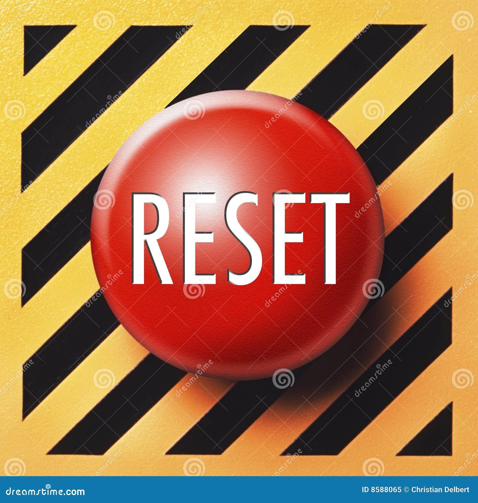reset button stock image image of orange black button 8588065