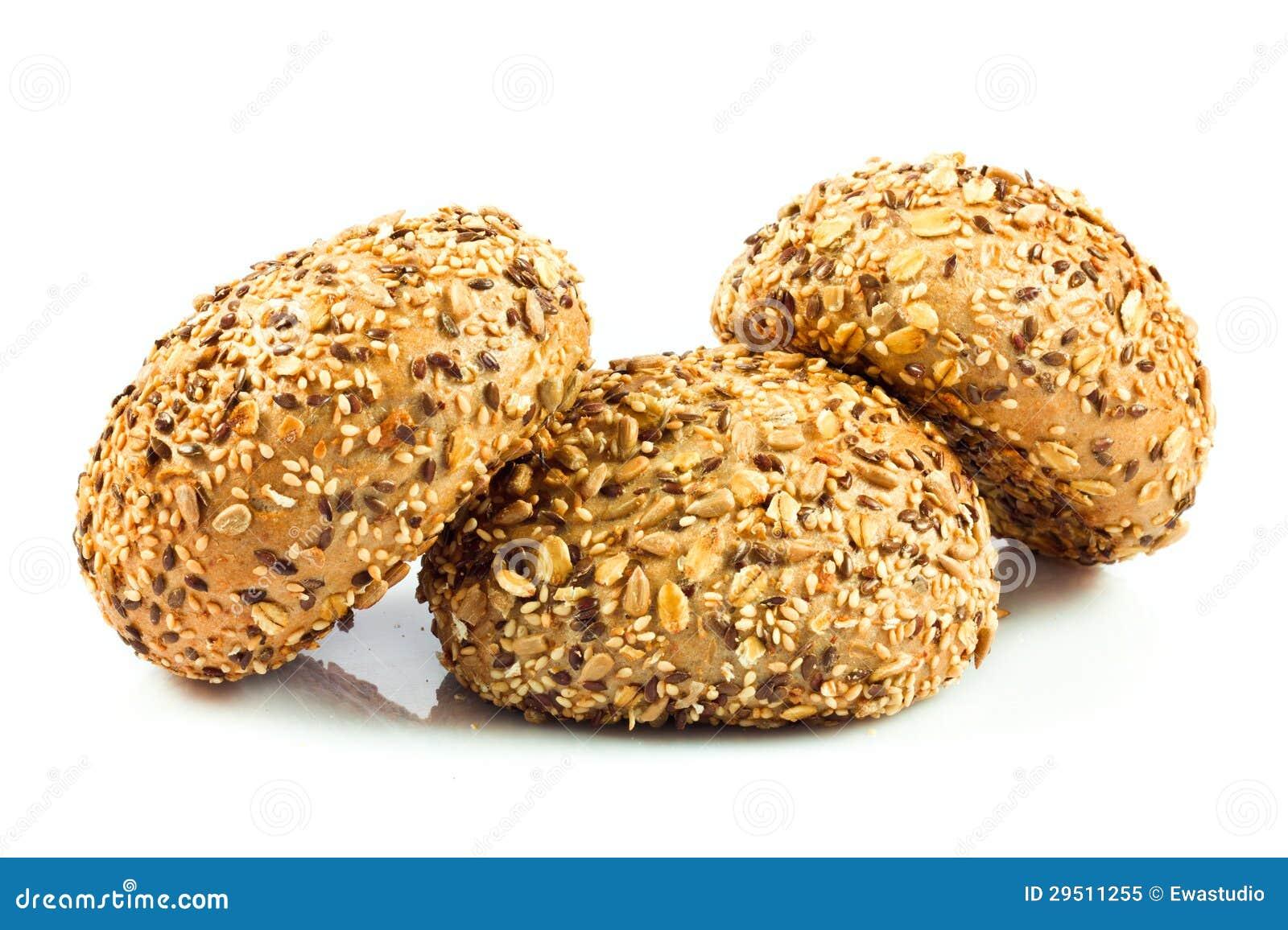 Resh broodjes met verschillende zaden.