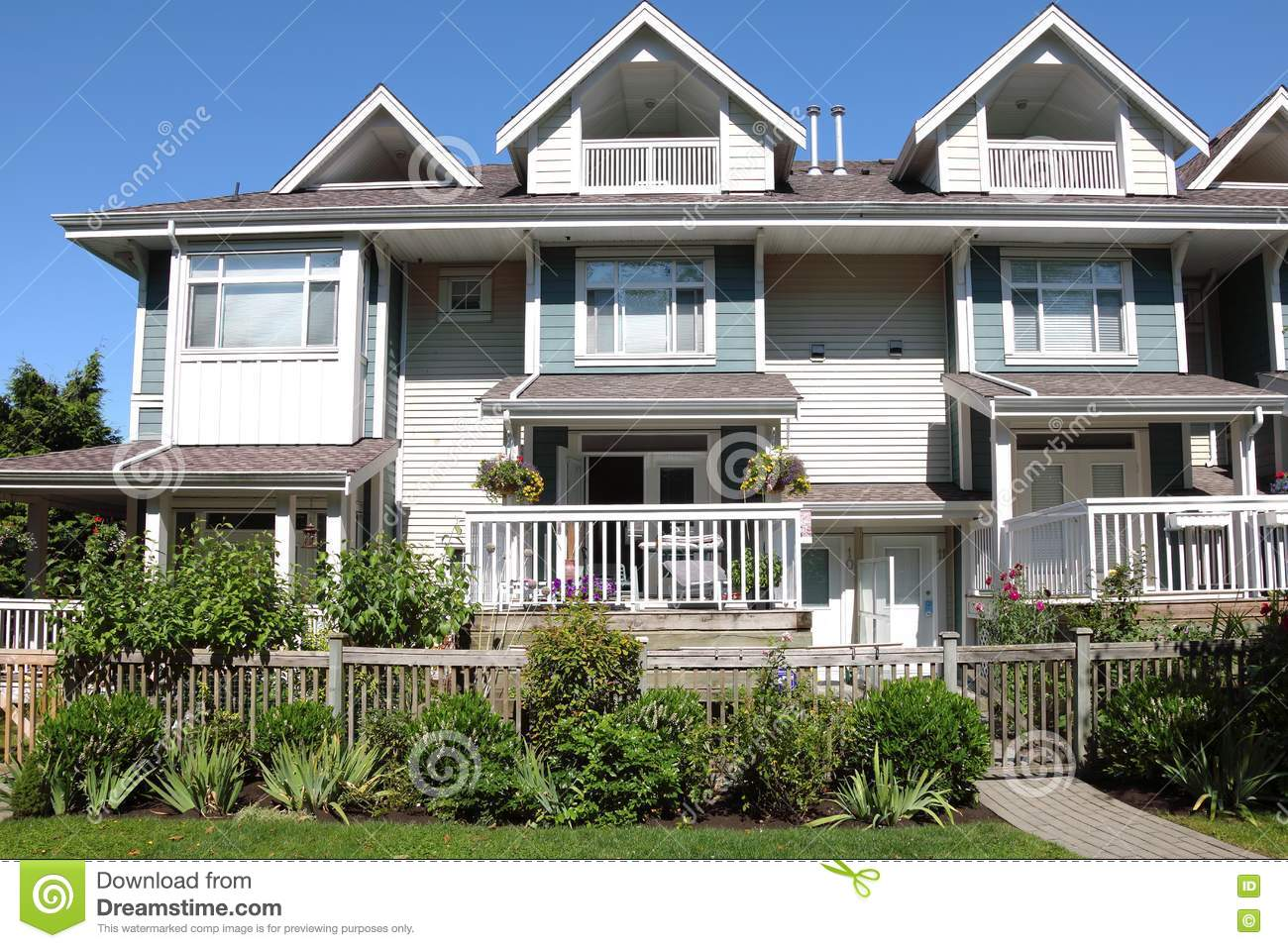 Richmond (BC) Canada  city photo : Residences In Richmond BC Canada. Royalty Free Stock Photography ...