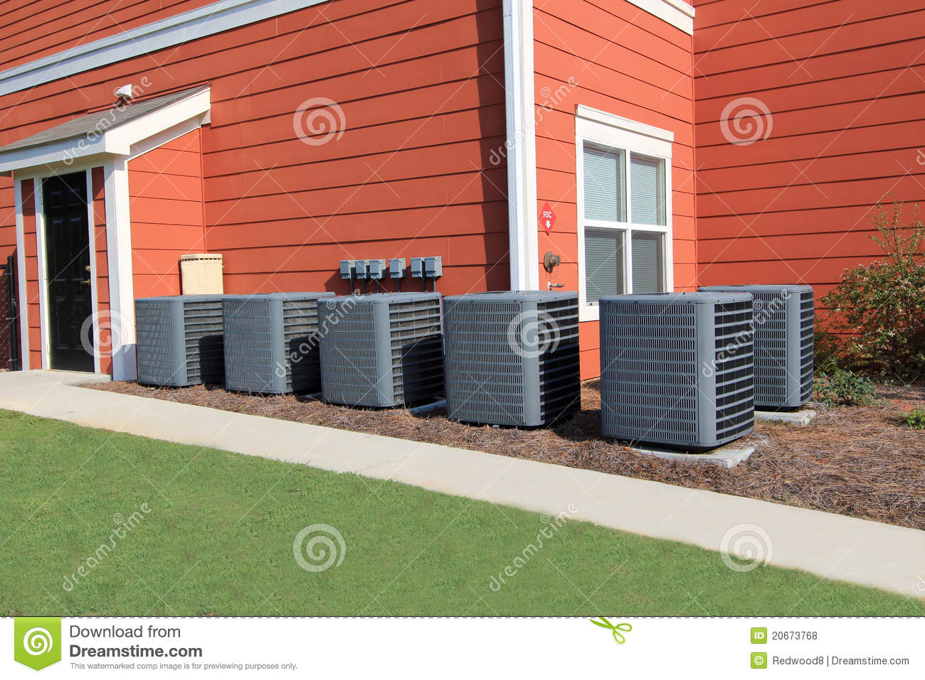 residential air conditioning units royalty free stock