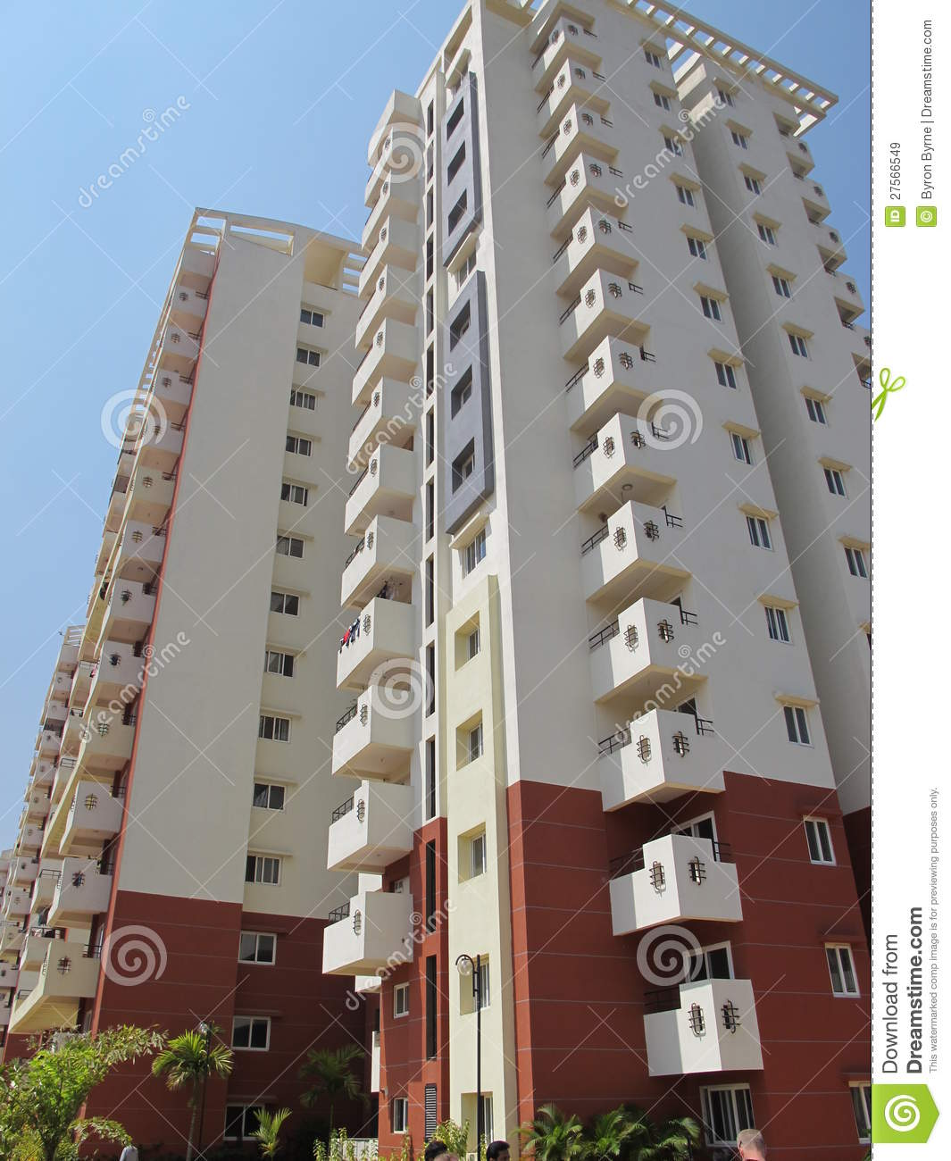 Residential apartment building in india royalty free stock for Apartment construction plans india