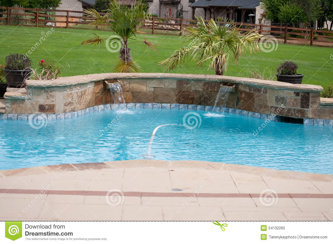 Residential beautiful swimming pool stock image image for Pool time pools