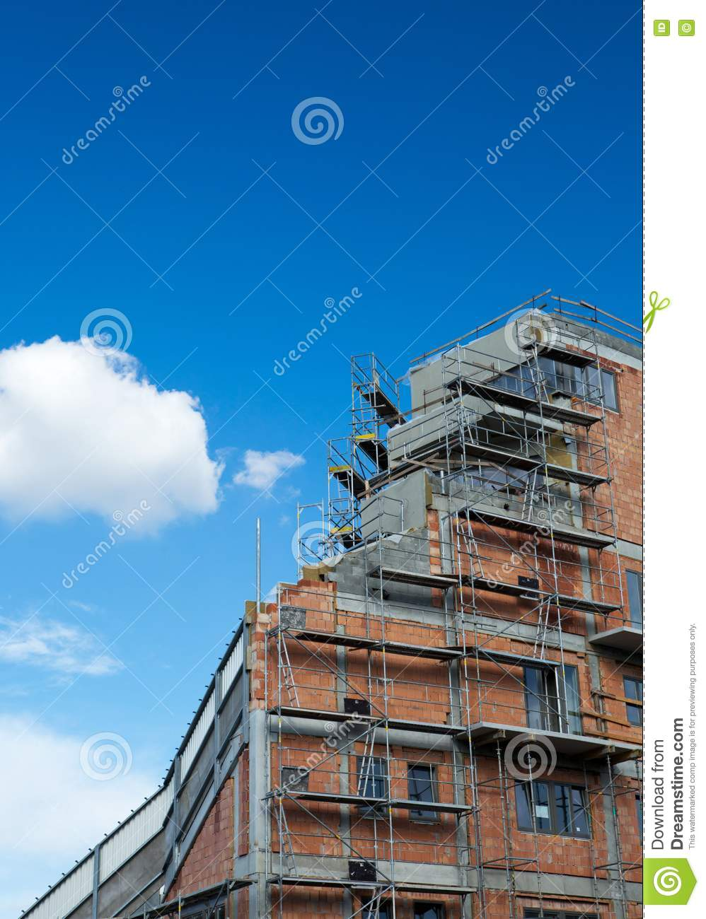 Residential Building Construction Site Royalty Free Stock ...