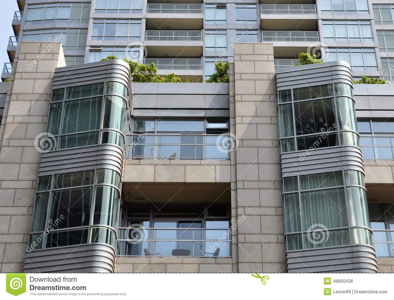 Residential building stock photo image 48950436 Building facade pictures