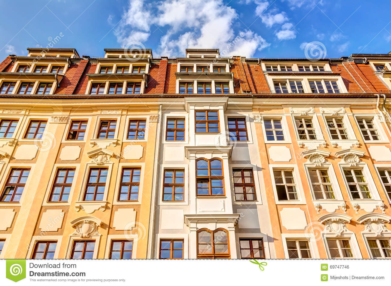 Residential Buildings In Baroque Style Stock Photo Image