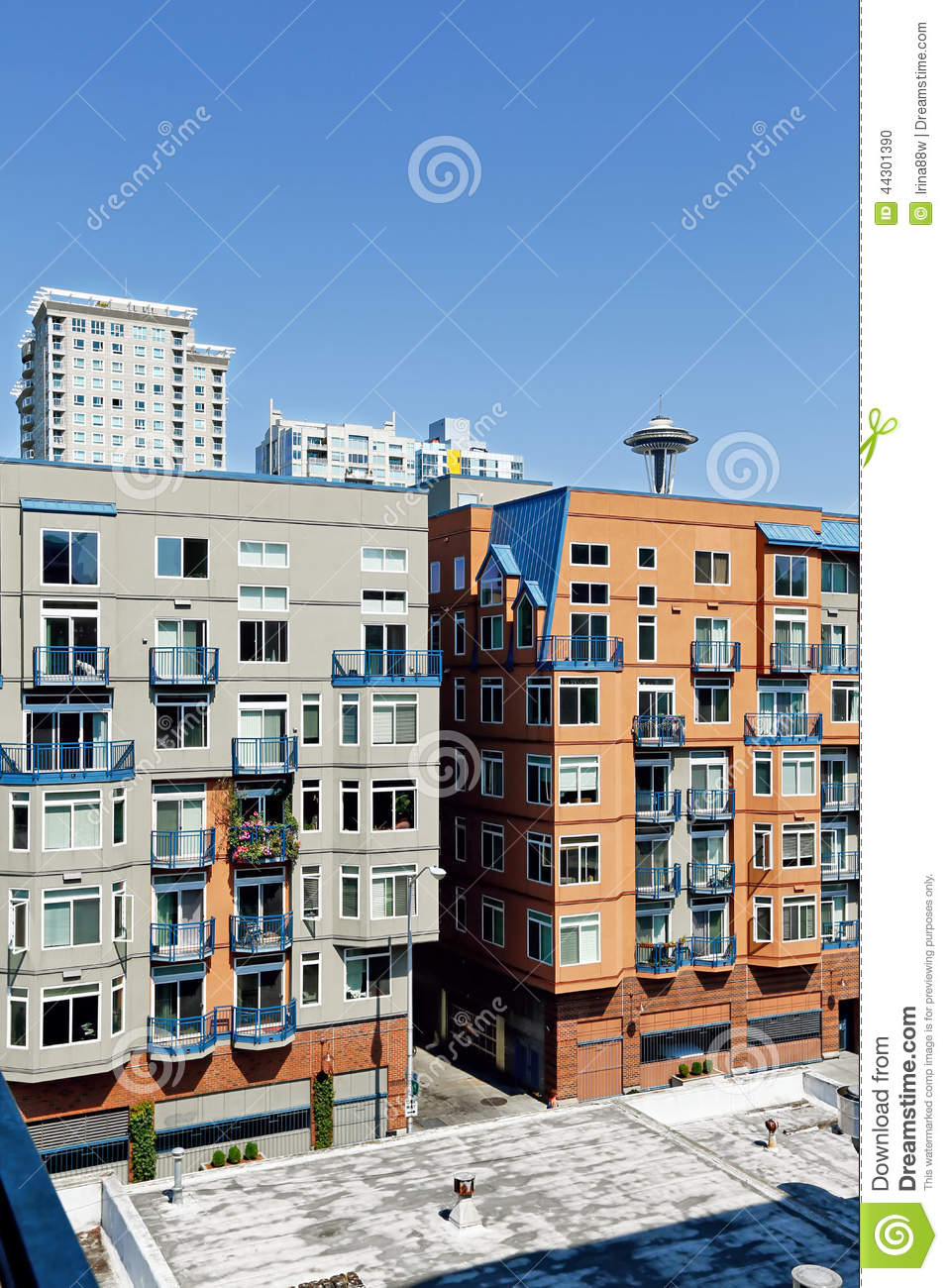 Residential buildings in down of seattle wa editorial for American residential architecture