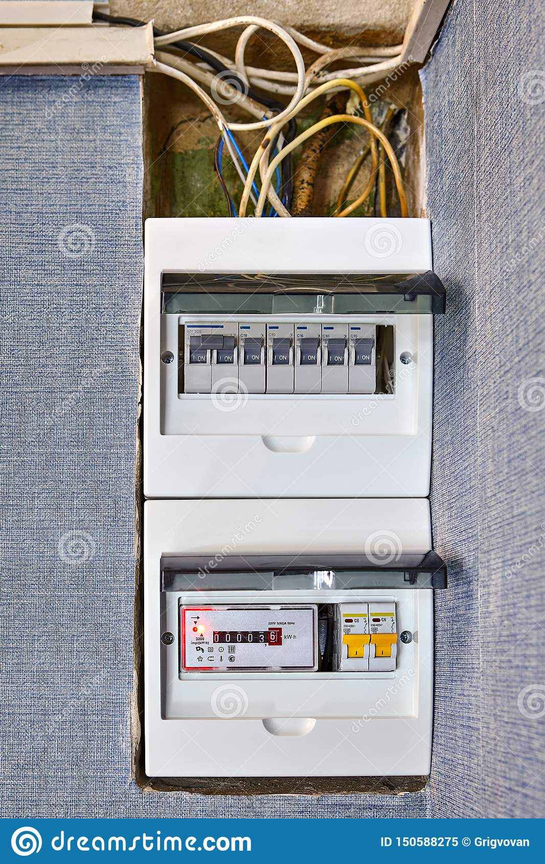Residential Circuit Breaker Box Of Home Electricity Stock Image Image Of Fusebox Energy 150588275