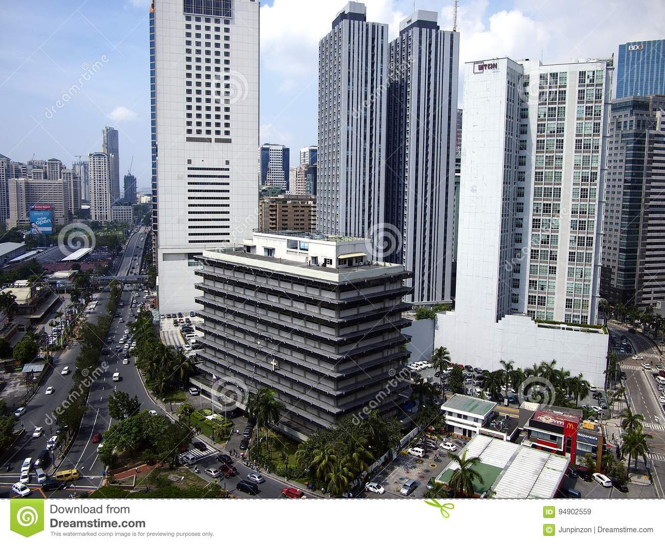 Residential and commercial buildings in Pasig City, Philippines.