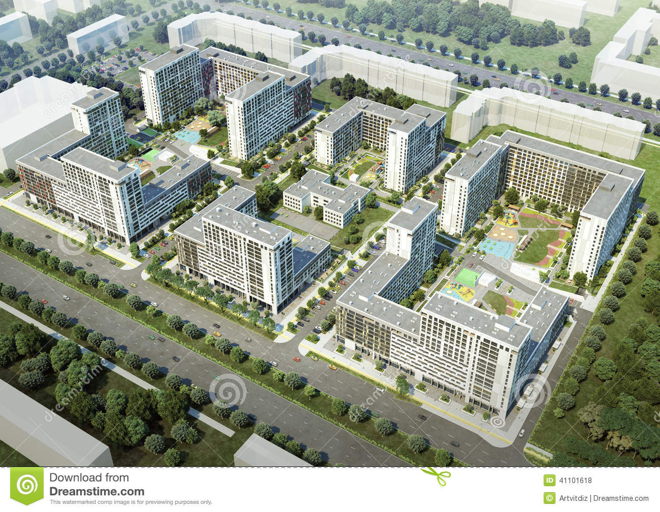 Residential Complex Stock Illustration Image 41101618