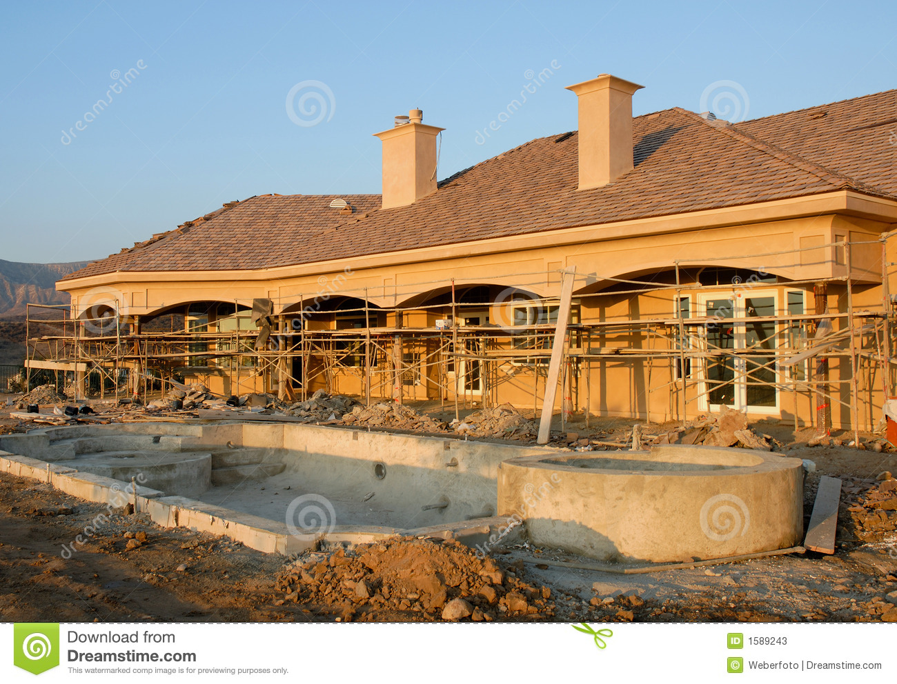 Residential Construction Site Stock Image - Image of ...