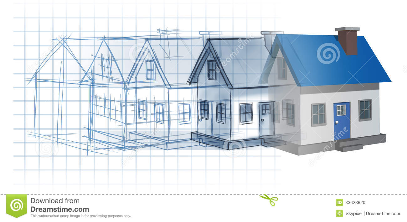 Residential development stock illustration illustration for House construction plans