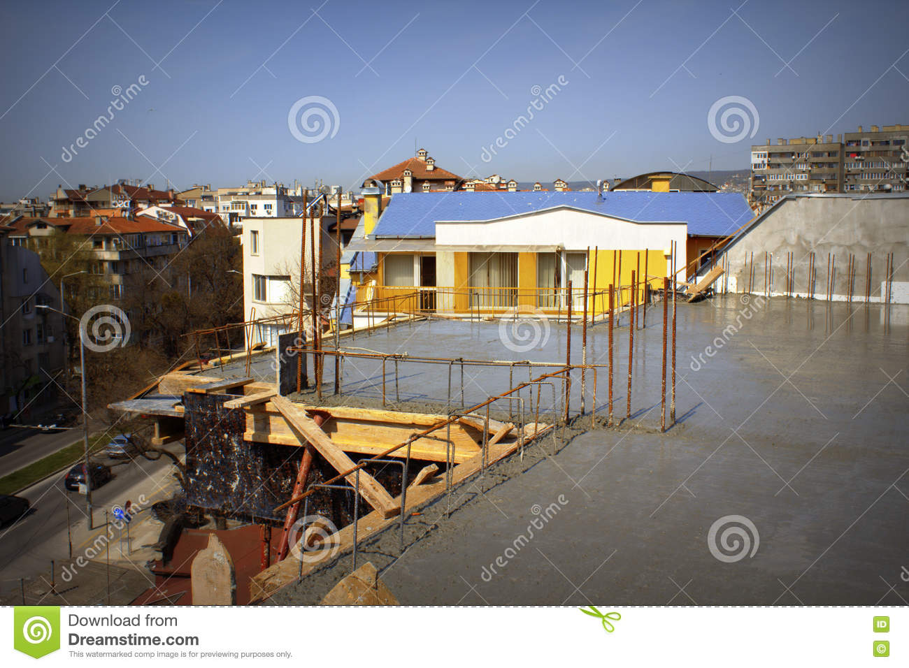Residential District Construction Site Stock Photo - Image ...