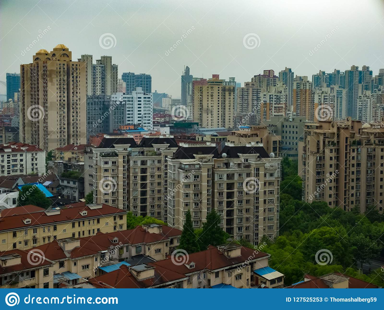 Residential district in Shanghai, China