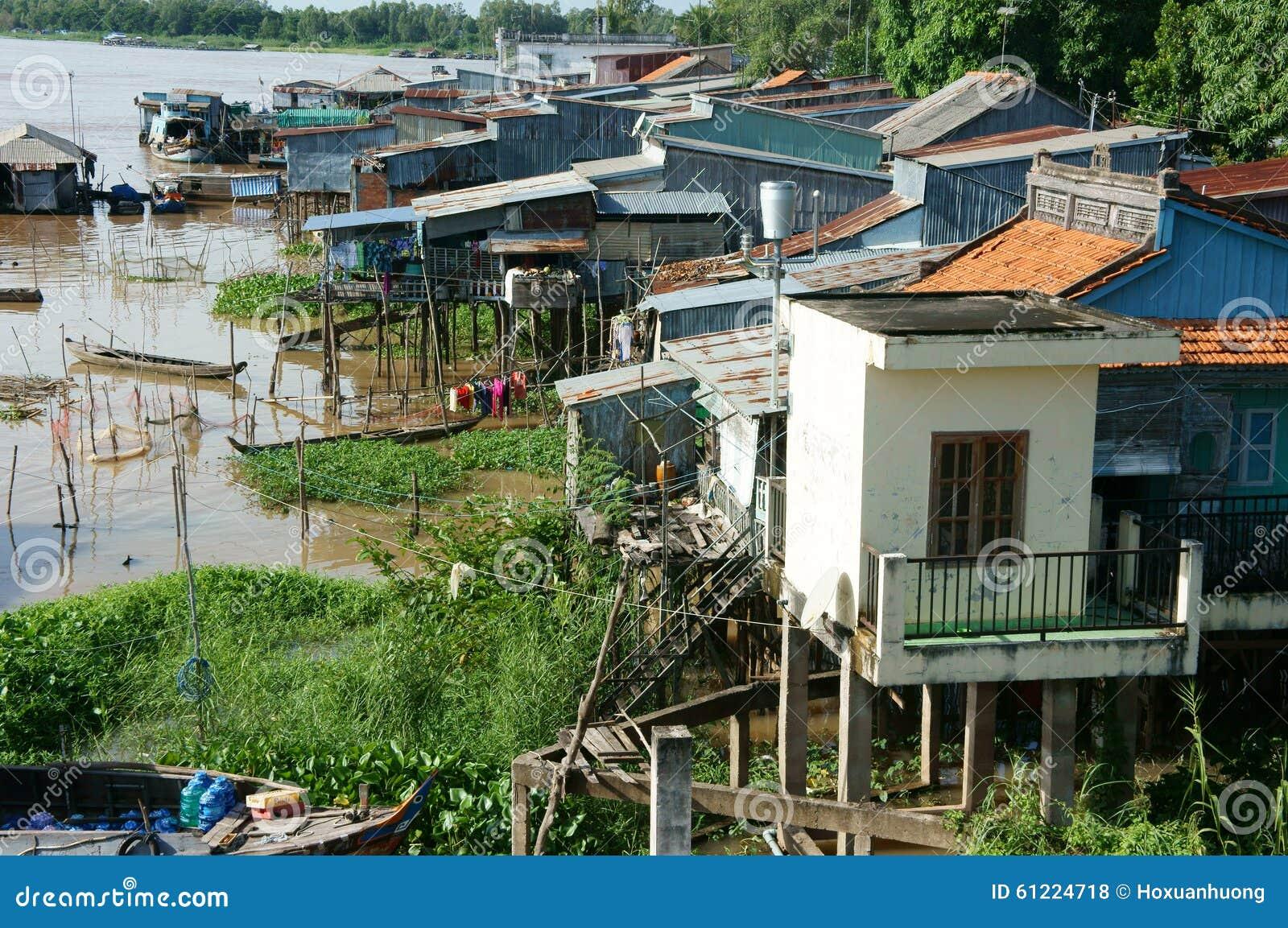 Group of floating house on la nga editorial image - La residence exotique fish house singapour ...