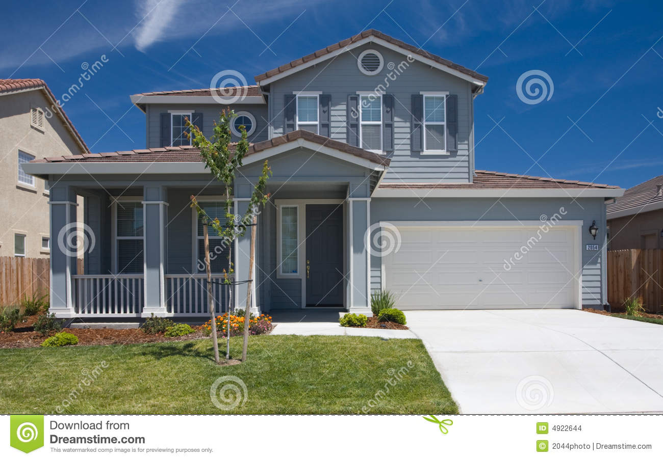 Residential home exterior front