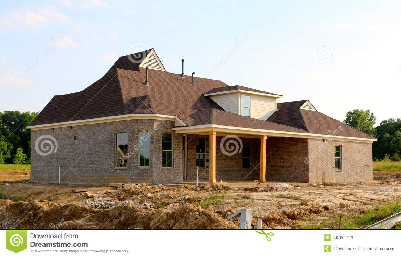 Residential Home Under Construction Stock Photo Image