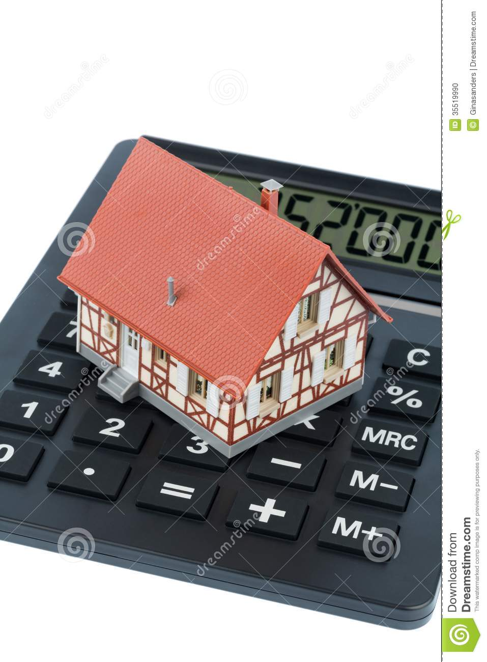 Residential house on calculator stock photo image 35519990 for Build a house calculator free