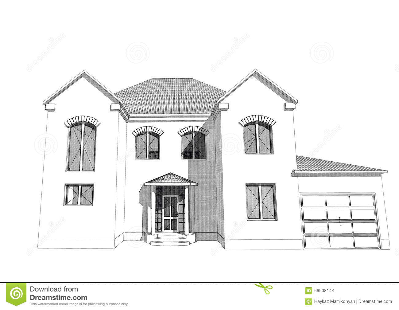 Residential house 3d stock illustration image 66908144 for 3d home builder software
