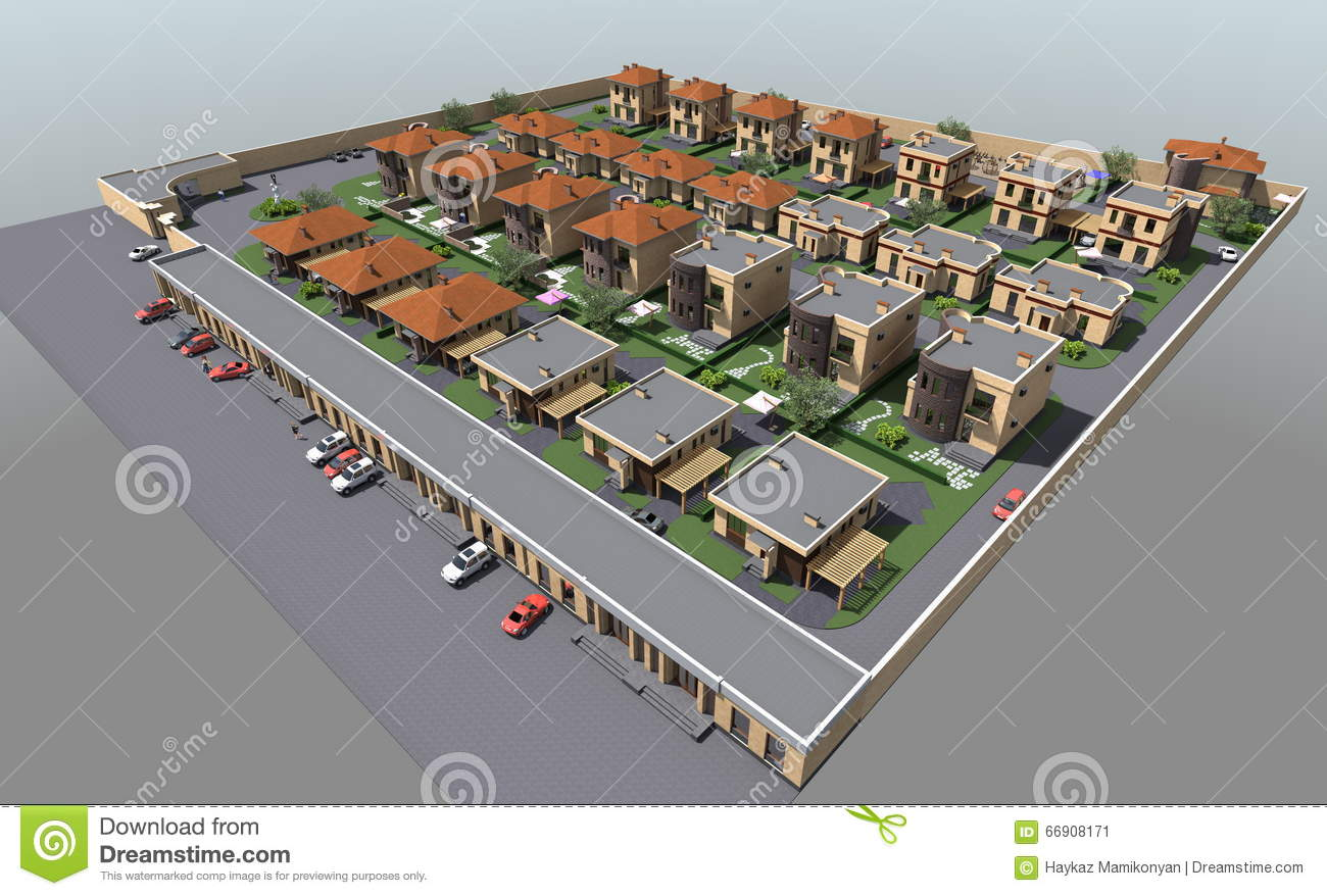 Residential house 3d stock illustration image 66908171 3d residential design software