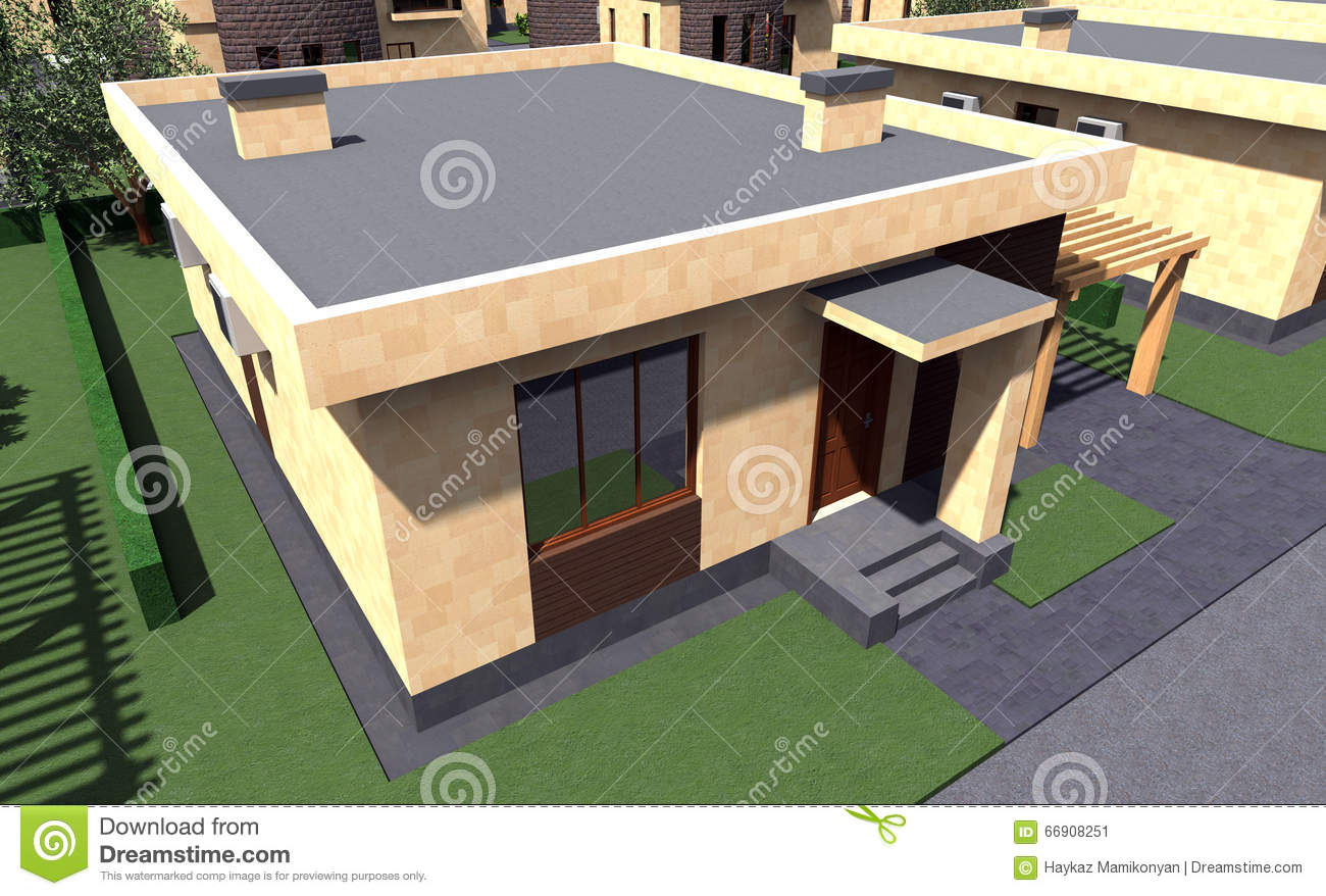 Residential house 3d stock illustration image 66908251 3d residential design software