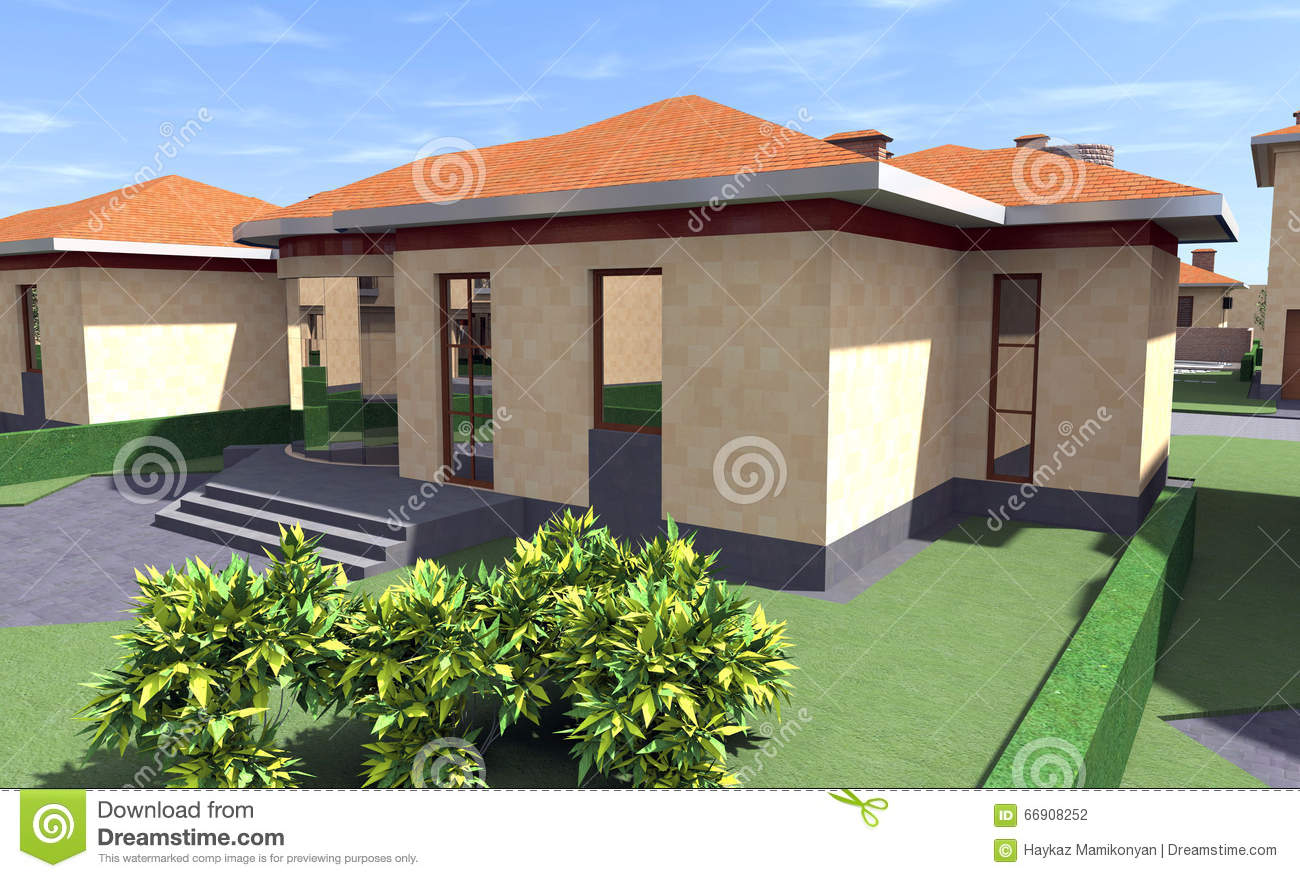 Residential house 3d stock illustration image 66908252 3d residential design software